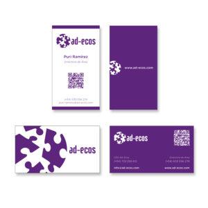 ad-ecos-tarjetas-corporativas-de visita-identificador-imagen-corporativa-diseño-gráfico-logotipo-xaniño-coruña