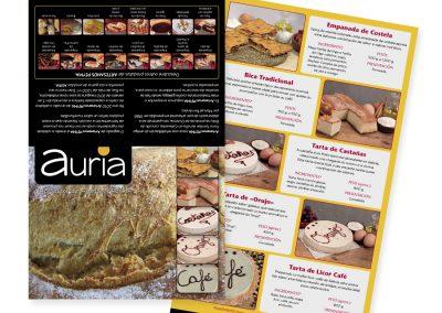 Auria Alimentación | Díptico Publicitario