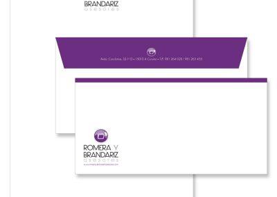 Romera y Brandariz | Identidad Corporativa y Papelería