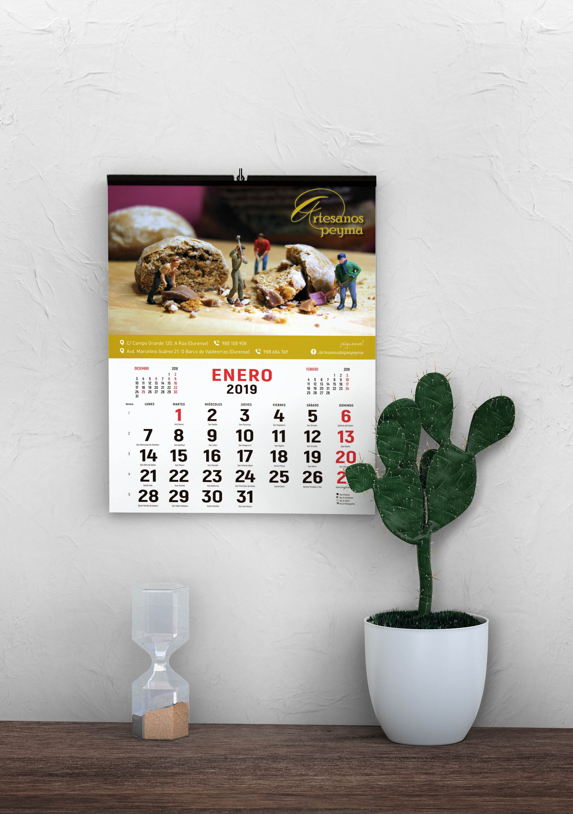 Calendarios de Pared-Artesanos Peyma-diseño-editorial-maquetación-diseño-gráfico-publicidad-cartelería-identidad-corporativa-xaniño-A-coruña
