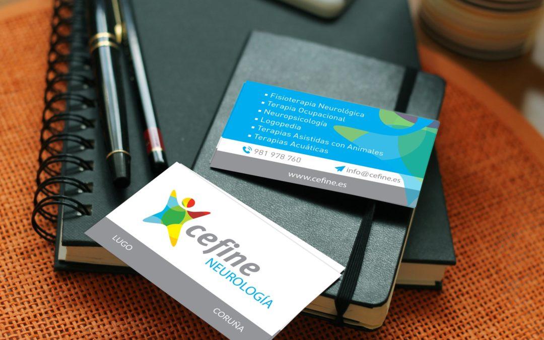 Cefine Neurología | Diseño gráfico y producción de tarjetas corporativas